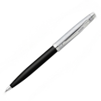Glossy Black Brushed Chrome Cap Nickel Plated Trim Ballpoint