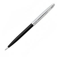Glossy Black w Brushed Chrome Cap w Nickel Plated Trim Ballpoint
