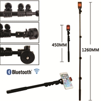 Longest Selfie Stick with Bluetooth Inbuilt Shutter
