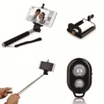 Selfie Stick with Bluetooth Remote Shutter