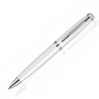 Waterman Hemisphere White CT BP Pen