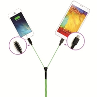 Zipper Cable for Micro + iPhone